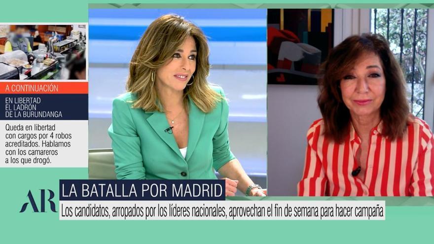"""El mensaje de Ana Rosa a Pablo Iglesias: """"No soy votante de Podemos, pero tampoco de Vox"""""""