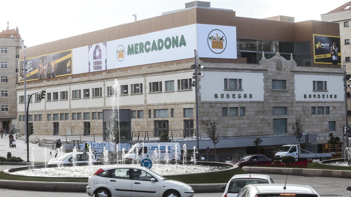 Vista de uno de los hipermercados de Mercadona ubicados en Vigo.