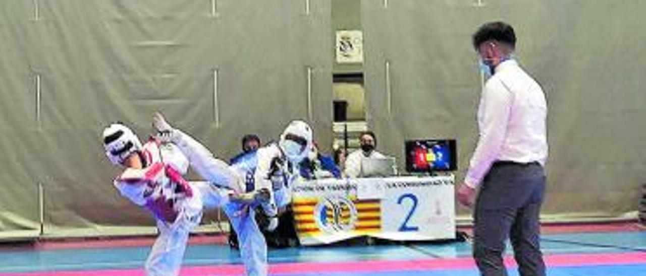 Uno de los competidores de Alcàsser en acción. | A.A.