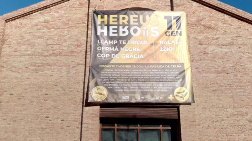 Homenatge a Celrà als que «pateixen la repressió» i per reclamar la llibertat dels «presos polítics»