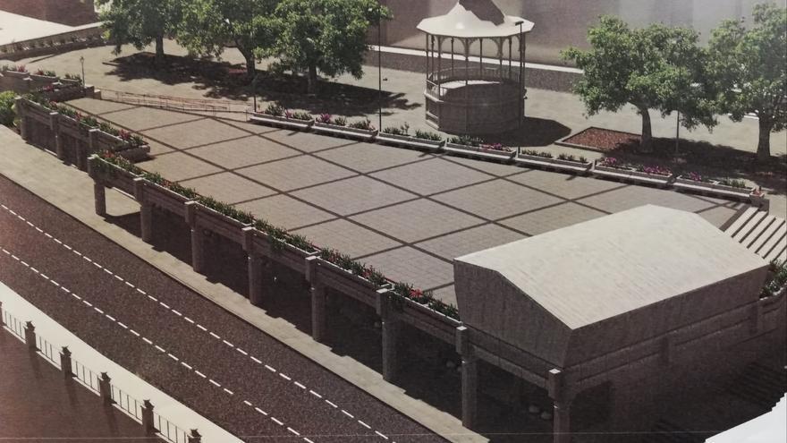 El proyecto de remodelación de la plaza de la Constitución de La Orotava entra en su fase final