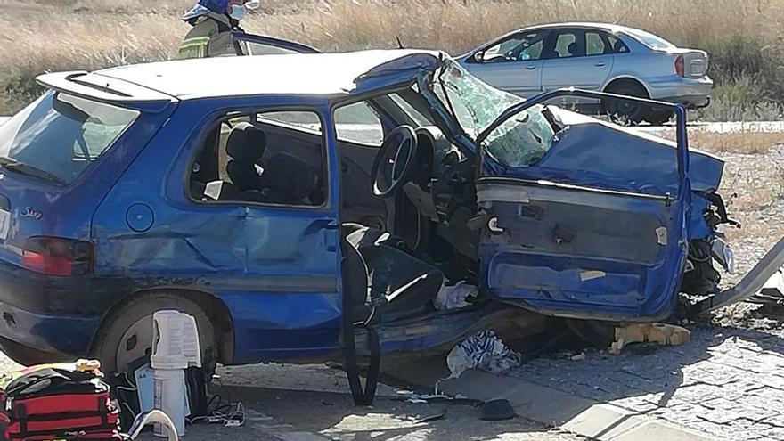 Grave accidente en la circunvalación de Fuentesaúco