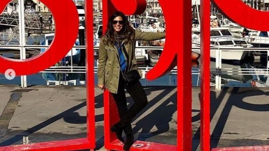 Nuria Roca disfruta en Asturias del fin de semana