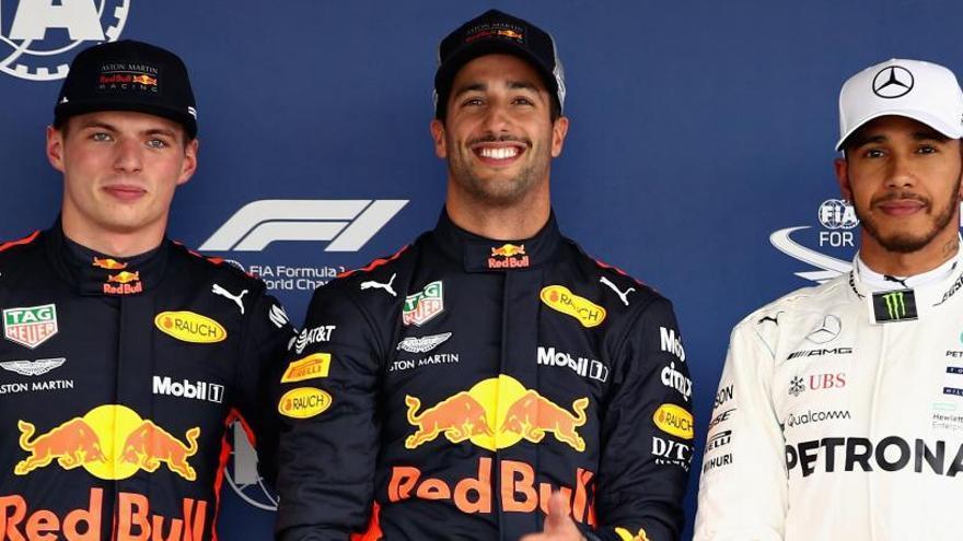 Ricciardo se adjudica la 'pole' y Hamilton saldrá tercero