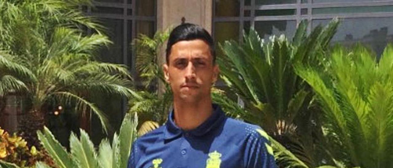 Maikel Mesa, en el hotel de concentración de la UD en Marbella.