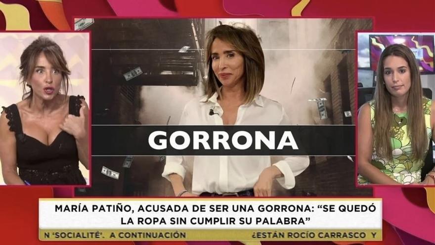 """María Patiño estalla contra sus compañeros de 'Socialité' al ser acusada de """"gorrona"""""""