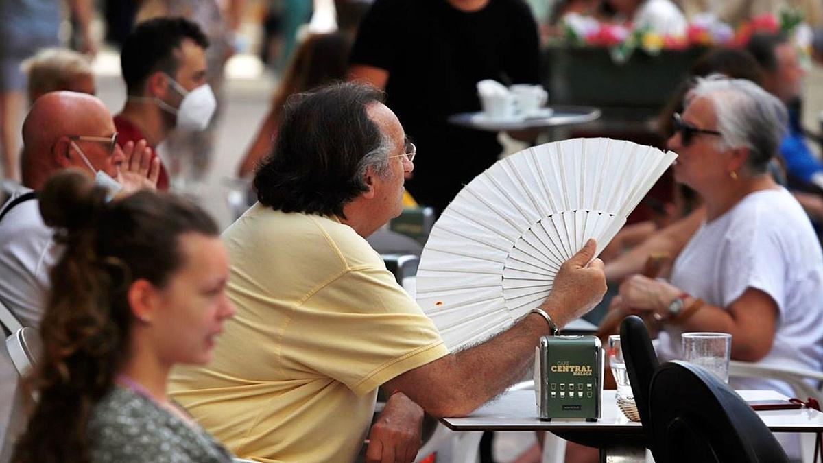 Estampa de calor en Málaga