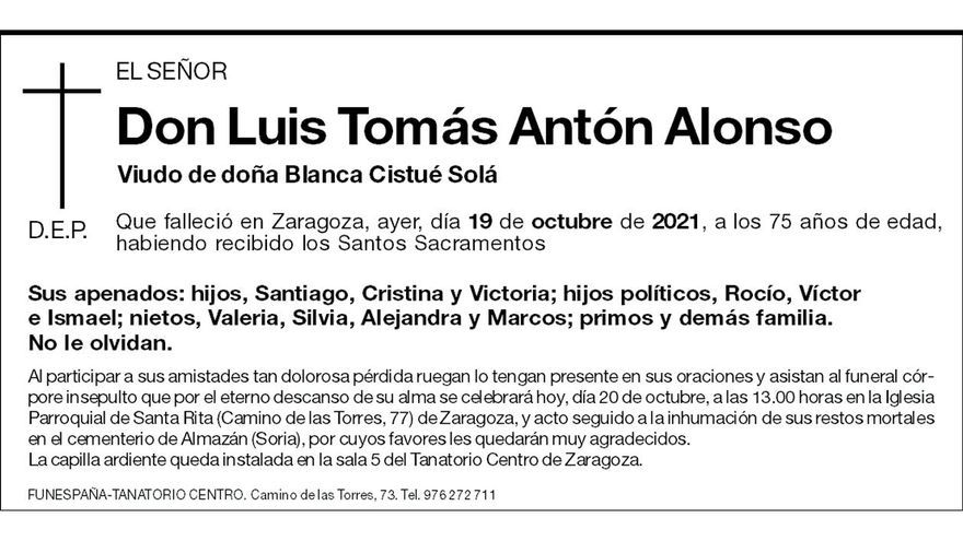 Luis Tomás Antón Alonso