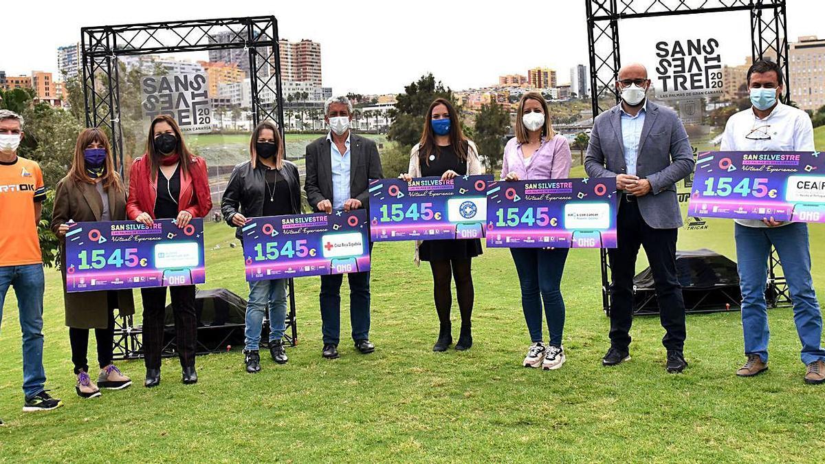 The 2020 San Silvestre delivers 7,725 euros to five NGOs |  ANTONIO MARTEL