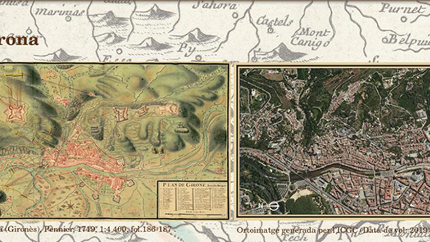 Plànols de castells, viles, esglésies i capelles de les terres gironines l'any 1719