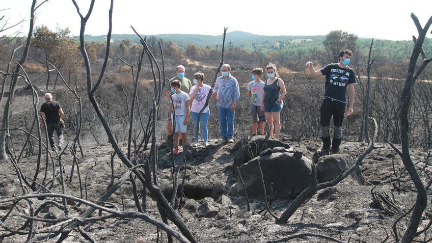 El dolmen de Toén que emergió del incendio