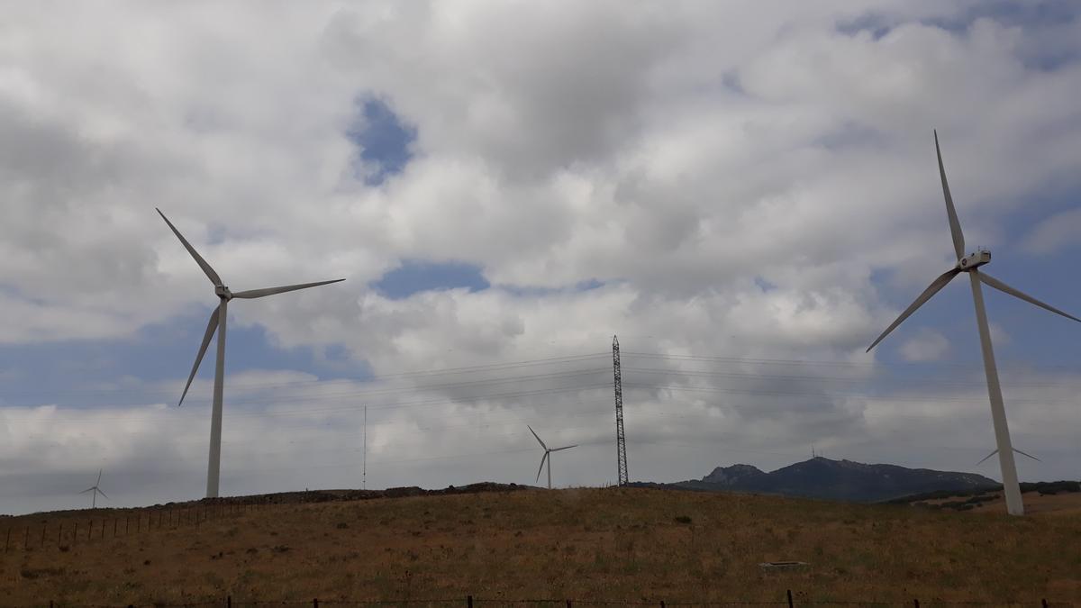 Un molino de energía eólica.