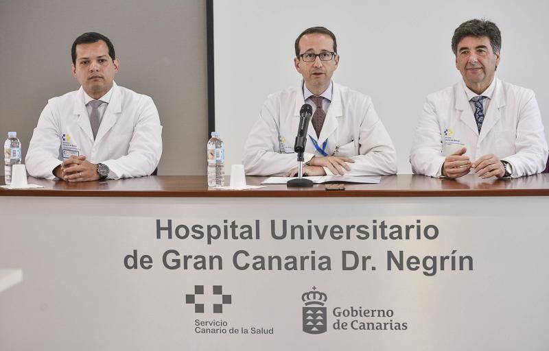 02/05/2018 LAS PALMAS DE GRAN CANARIA.  presentación de los detalles en la técnica de radiocirugía para tratar tumores de páncreas guiada por GPS en Hospital Doctor Negrín. FOTO; J. PÉREZ CURBELO  | 02/05/2018 | Fotógrafo: José Pérez Curbelo