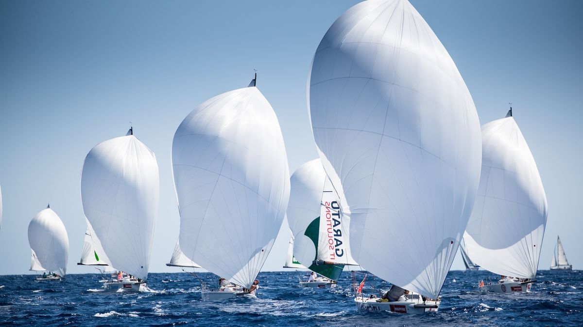 La flota de la clase J80 durante la última edición de la Copa del Rey