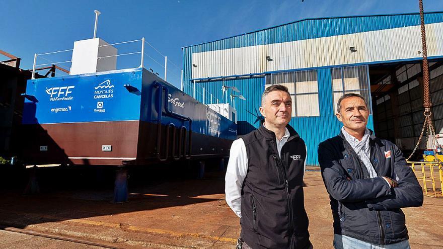 Un consorcio vigués lanza una plataforma autónoma para alimentar jaulas acuícolas