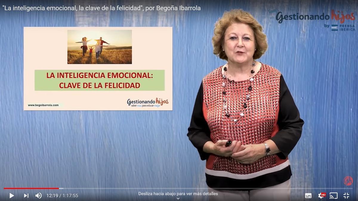 Begoña Ibarrola, en su ponencia.