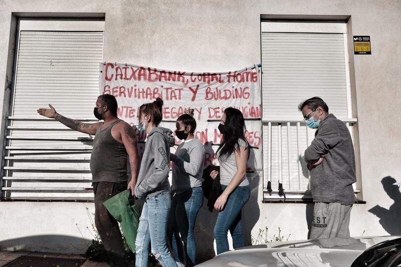 Vecinos en riesgo de desahucio en Tenerife