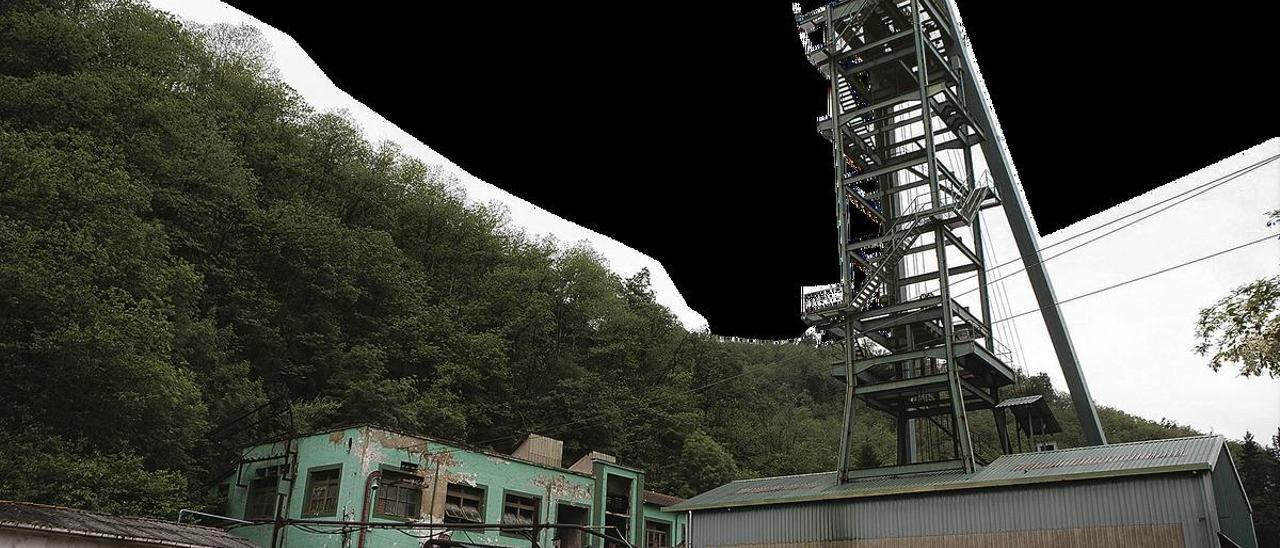 Las instalaciones del pozo Carrio, propiedad de Hunosa, que acogerán un laboratorio de seguridad contra explosiones. Rodríguez