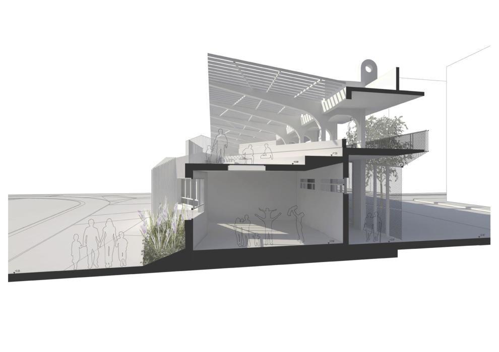 Así será la nueva grada y parque urbano del antigu