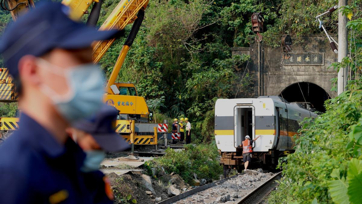 Imagen de archivo de un accidente de tren.