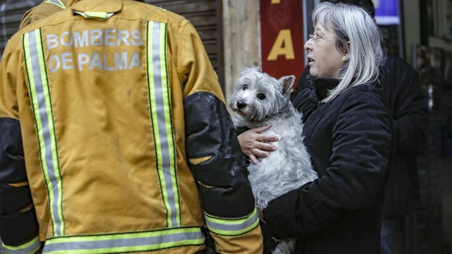 Dos intoxicados leves en un incendio en una vivienda en Palma