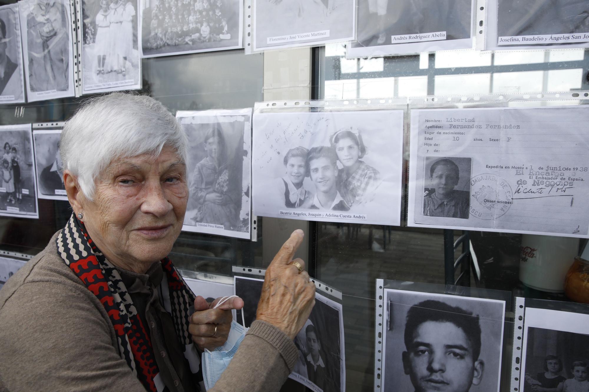 Homenaje a los niños y niñas de la guerra en El Arbeyal