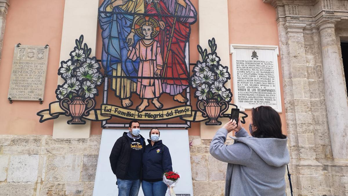 """El retablo hace las veces de """"photocall"""""""