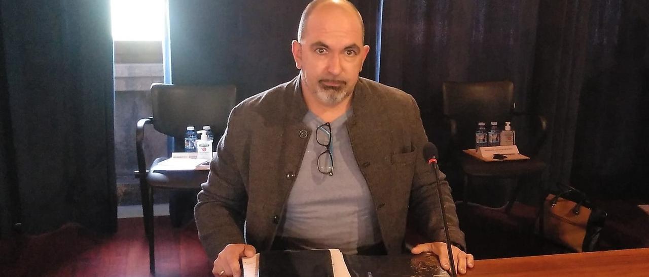 El concejal Román González, en una reciente comparecencia.