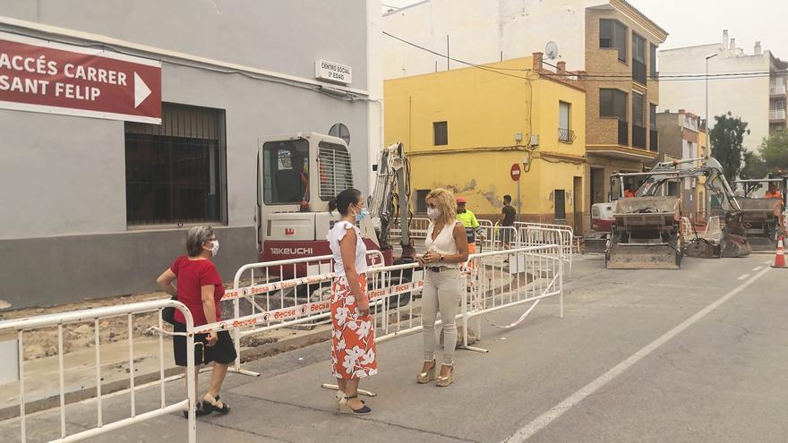 Almassora avanza las obras de la última fase del bulevar San Jaime