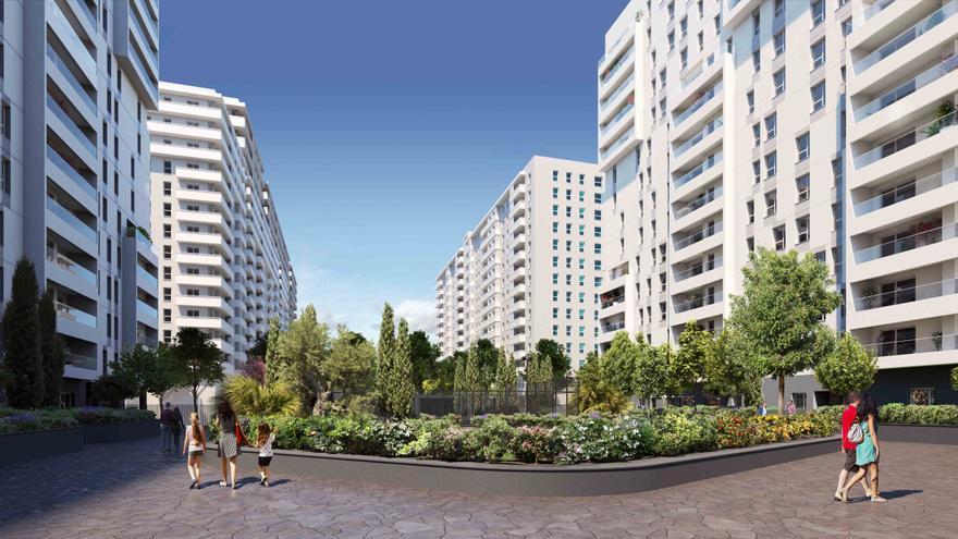 Así será el nuevo barrio de València: centro comercial, viviendas de calidad y amplias zonas deportivas y ajardinadas
