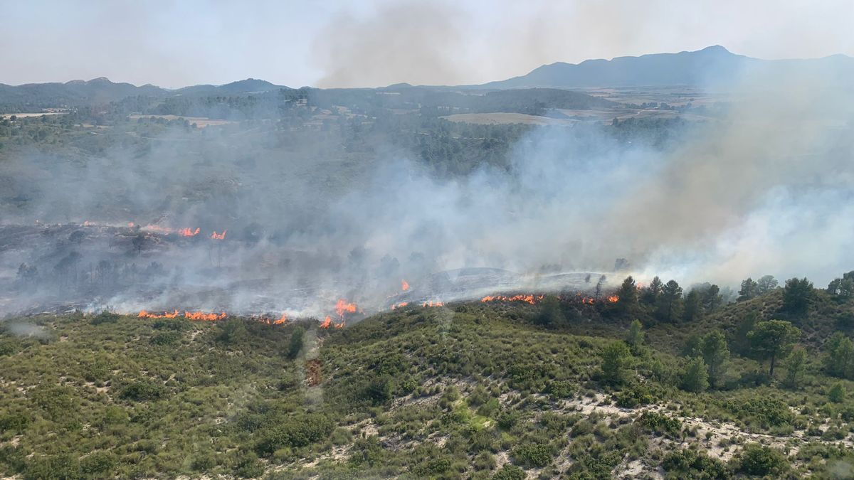 Incendio forestal en Moratalla