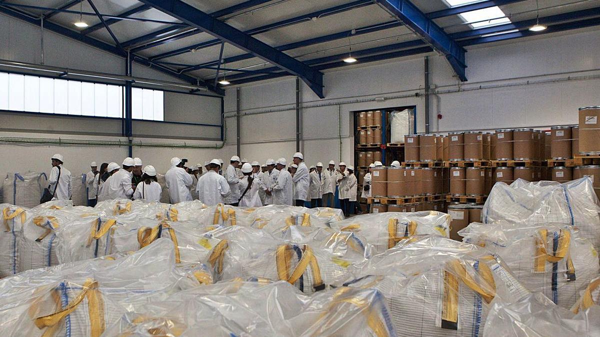 Una visita a les instalaciones con motivu del 75 aniversariu de la factoría de Bayer en Llangréu. | Fernando Rodríguez