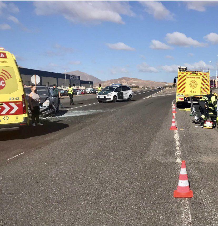 Aparatoso accidente en Fuerteventura (10/05/21)