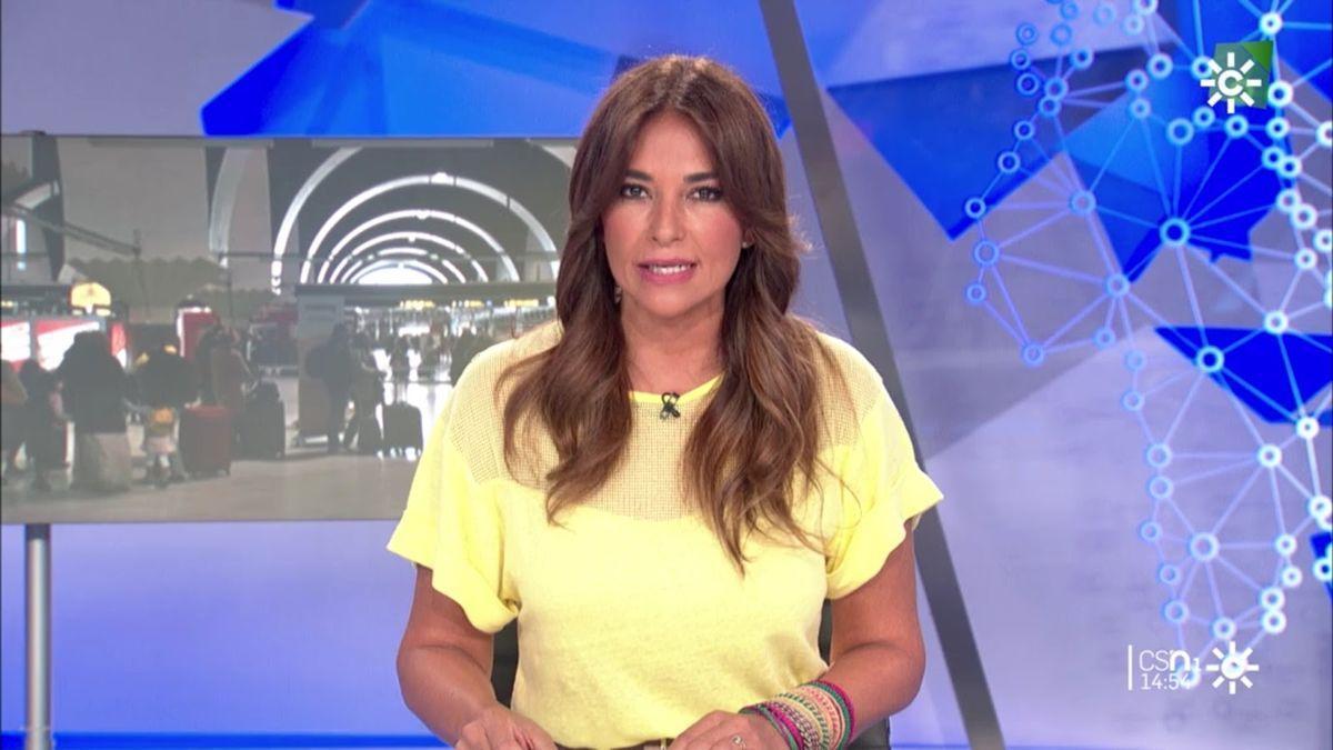 Mariló Montero en los informativos de Canal Sur.