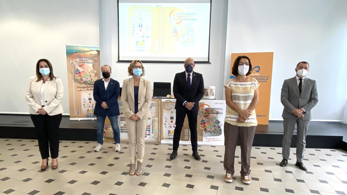 Presentación de la edición de 2021 de la Universidad de Verano de Maspalomas.