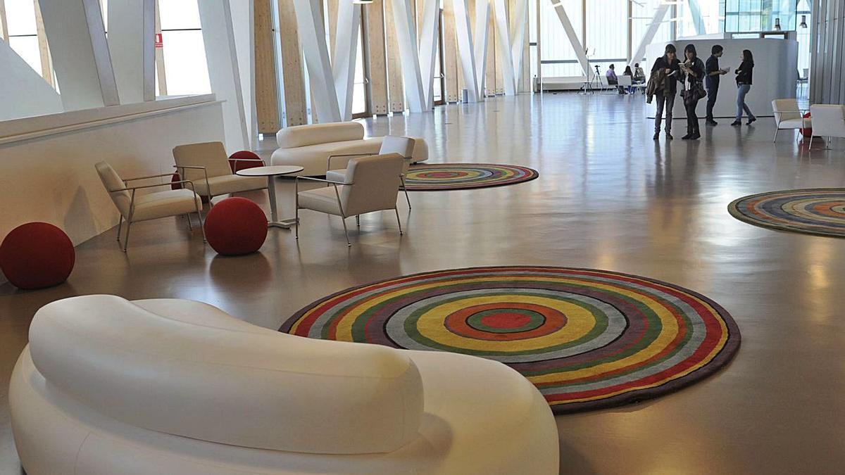 Interior del Ágora, horas antes de su inauguración, en enero de 2012. |   // CARLOS PARDELLAS