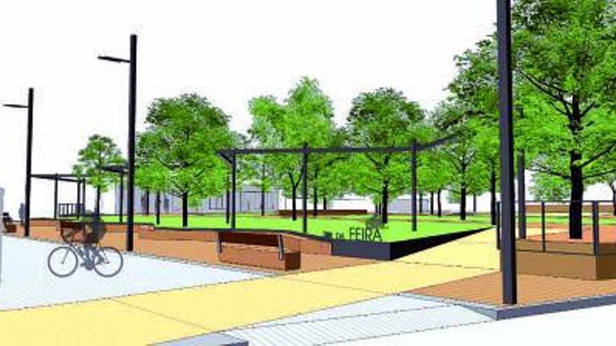 Tomiño reformará el parque da Feira como espacio peatonal