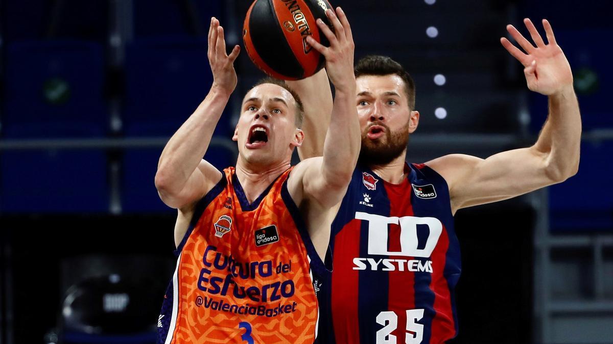 El Valencia Basket se estrena este sábado ante el Baskonia.