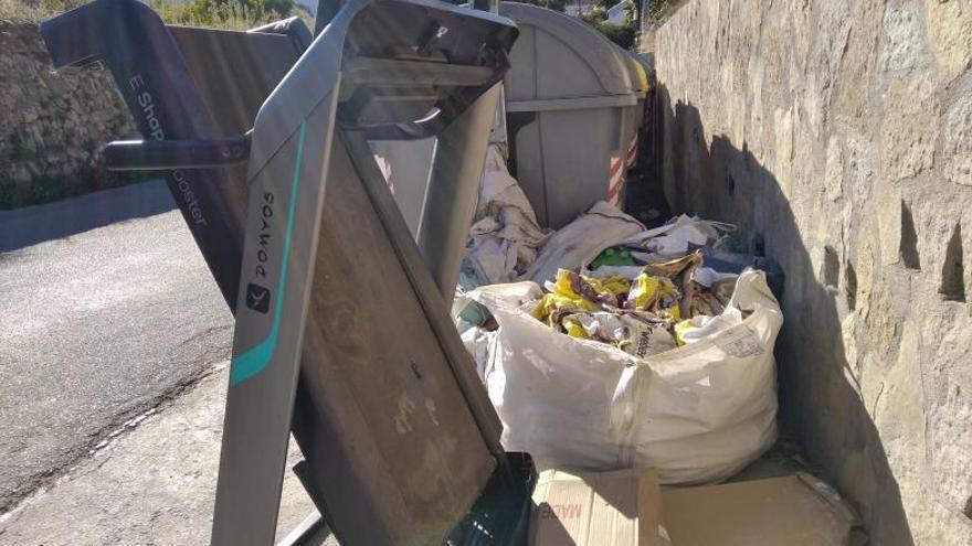 Otro residuo inverosímil en Xàbia: una cinta de correr