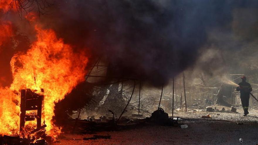 Surgen nuevos incendios en el campo de refugiados de Moria