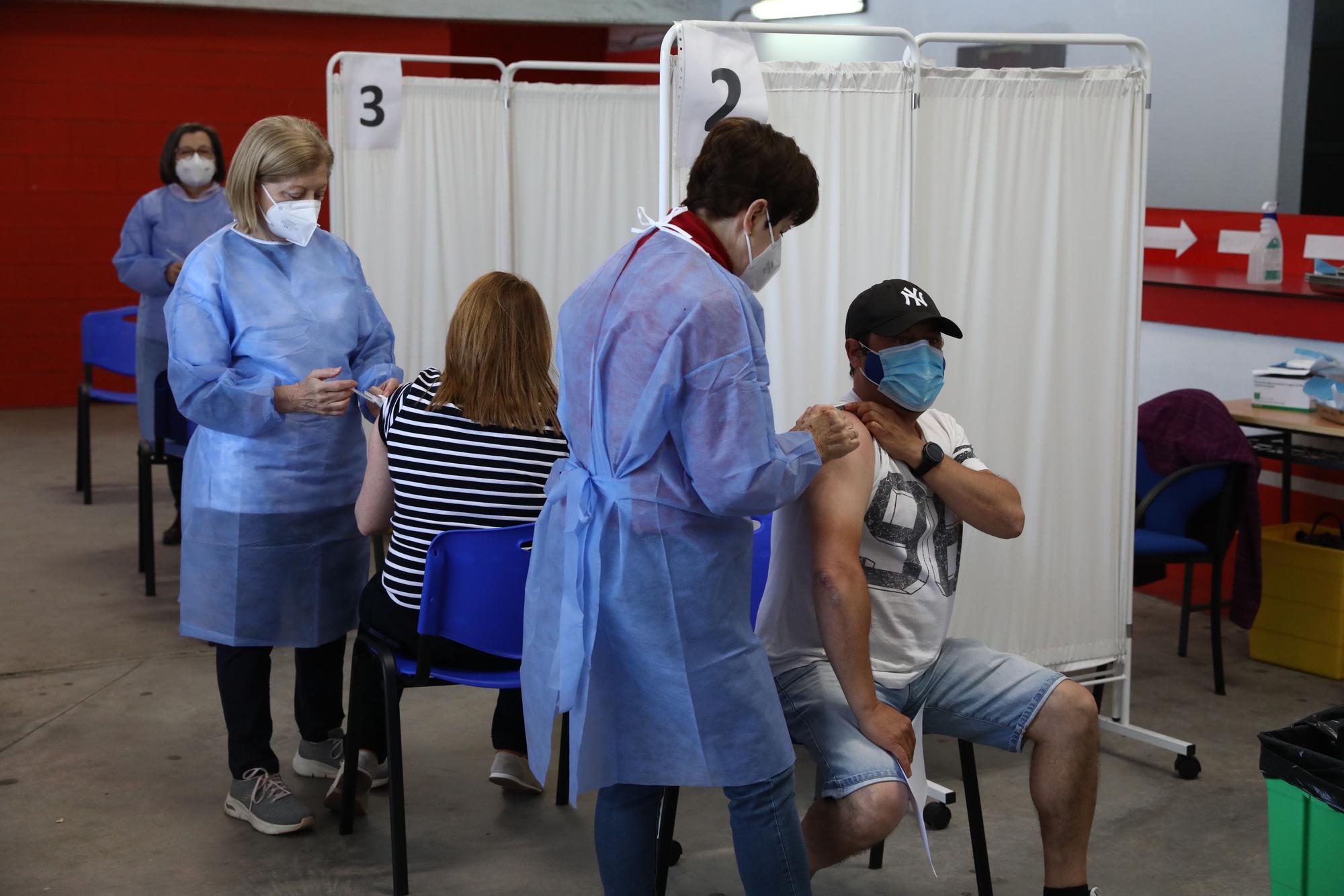 Campaña de vacunación en El Molinón