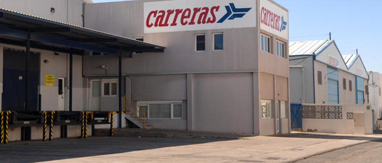 Instalaciones del Grupo Logístico Carreras, SA, en el polígono industrial de El Goro.