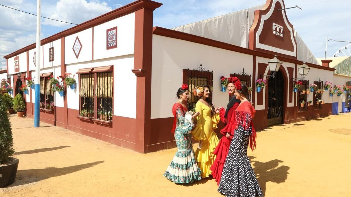 Exterior de una caseta de la feria de Córdoba, en una imagen de archivo.