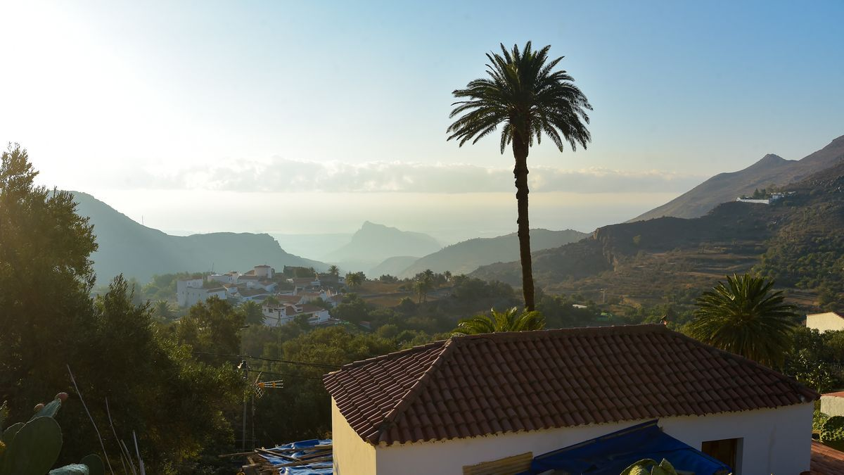 Calima vista desde Temisas (Agüimes) este miércoles