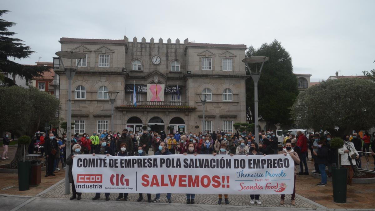 Una de las protestas en defensa de Thenaisie Provote.