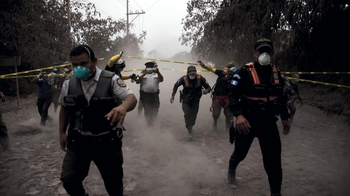 La violenta erupción del volcán de Fuego de Guatemala