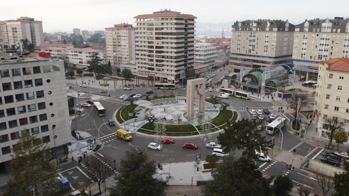 Vista de la Plaza de América de Vigo, donde ocurrieron los hechos. // Alba Villar