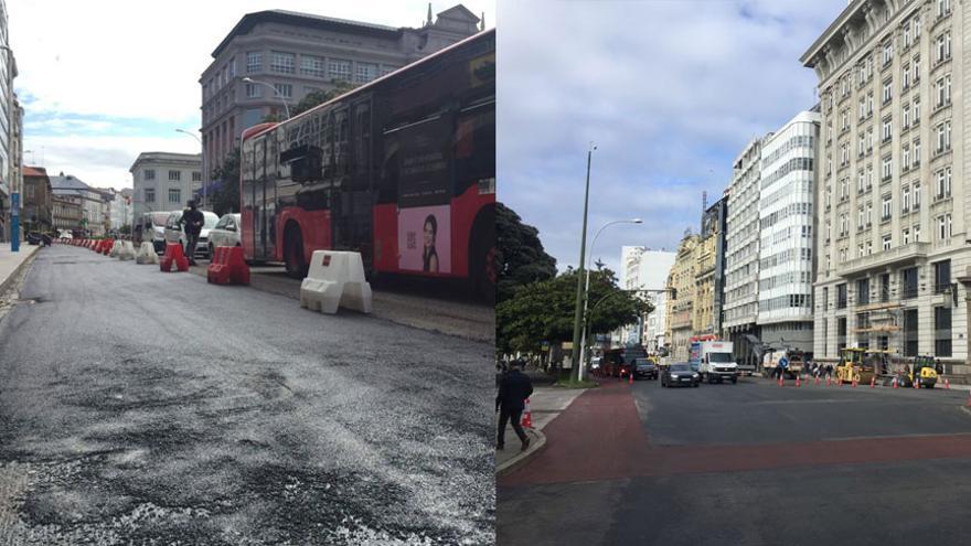 Así queda la nueva zona peatonal de los Cantones