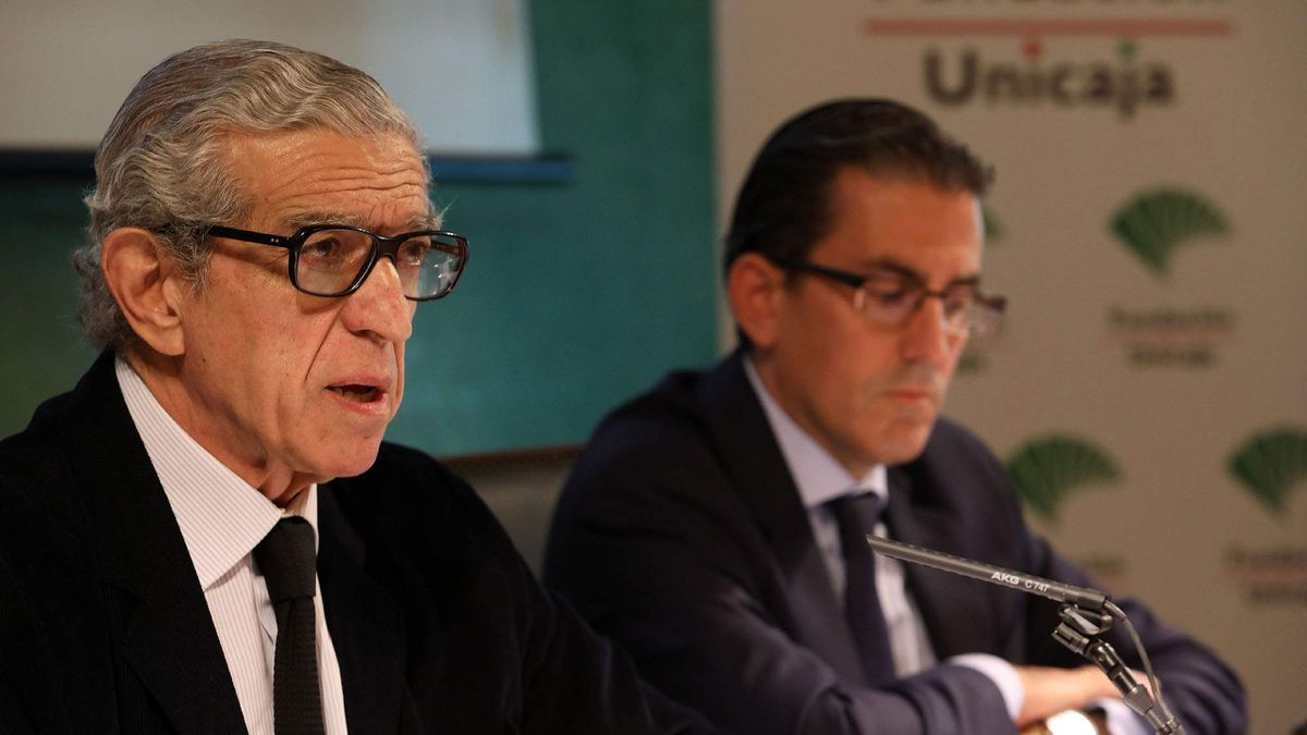 Braulio Medel junto a Sergio Corral, que será el nuevo presidente del Unicaja.