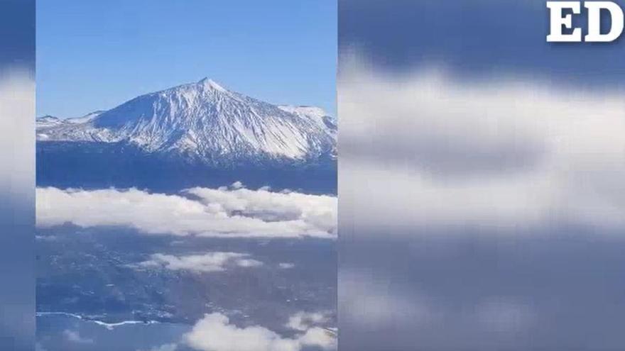 Así se ve el Teide este lunes